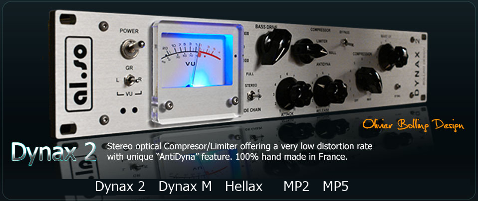 AL SO Dyanx2 high-end Stereo Opto Compressor / Limiter and sound